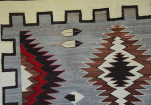 "Teec Nos Pos Antique Navajo Rug :  PC 175  : 43"" x 61"""