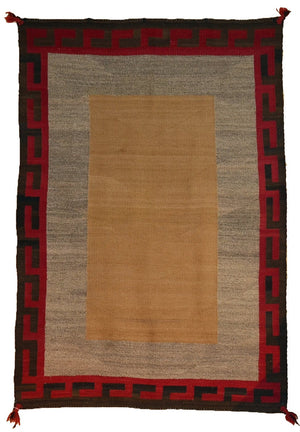 "Double Saddle Blanket : Vintage Indian Blanket : PC 194 : 36"" X 52"" - Getzwiller's Nizhoni Ranch Gallery"