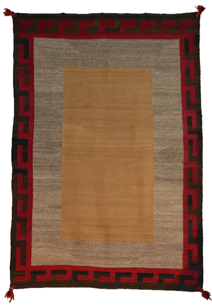 "Double Saddle Blanket : Vintage Indian Blanket : PC 194 : 36"" X 52"""