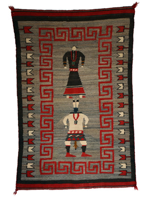 Navajo Double Saddle Blanket : Pictorial : Historic : PC 28