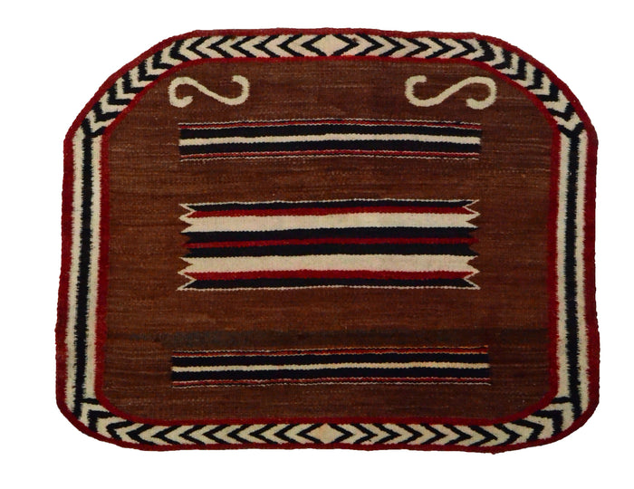 Single Saddle Blanket : Historic Navajo Weaving : PC 286 : 24″ x 31″