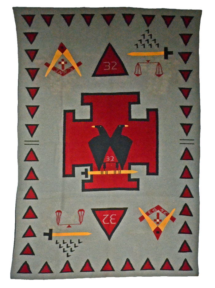 Germantown Masonic Pictorial Tapestry : Navajo :  Historic : PC 3