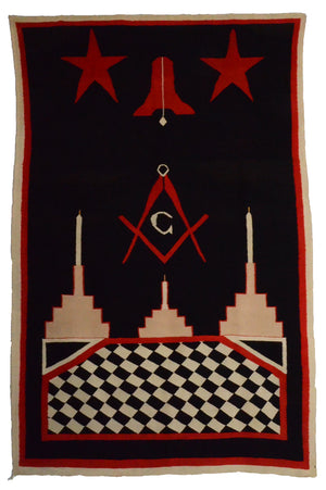 Germantown Masonic Pictorial Tapestry : Navajo :  Historic : PC 4