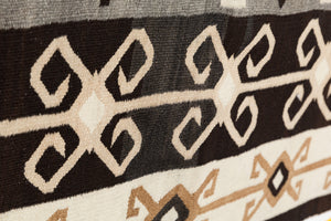 "Two Grey Hills Bistie Navajo Rug : Historic : PC 103 : 49"" x 122"" - Getzwiller's Nizhoni Ranch Gallery"