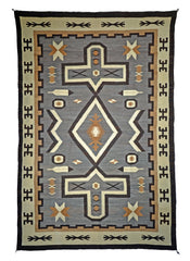 SOLD Two Grey Hills : Historic Navajo Rug : PC 140