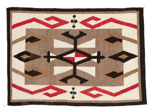 JB Moore Plate XXIV Navajo Weaving : Historic : PC 112 : 53″ x 74″ - Getzwiller's Nizhoni Ranch Gallery