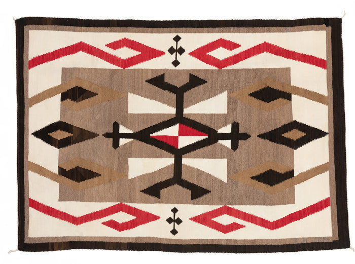 JB Moore Plate XXIV Navajo Weaving : Historic : PC 112 : 53″ x 74″