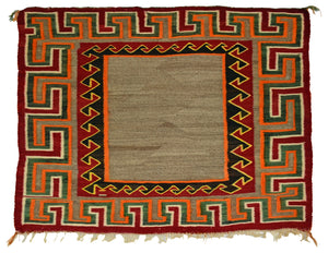 Navajo Saddle Blanket -Single : Historic : PC 123 - Getzwiller's Nizhoni Ranch Gallery