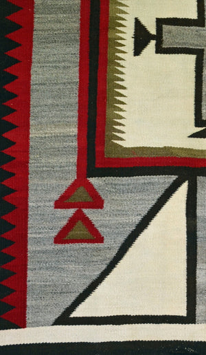 Crystal / Storm / JB Moore Variant : Historic Navajo Weaving : PC 124 - Getzwiller's Nizhoni Ranch Gallery