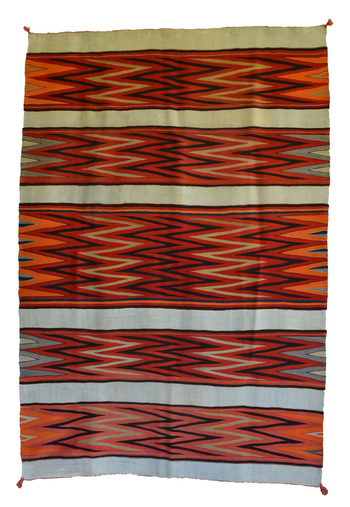 "Late Classic Wedge Weave Navajo Blanket : Historic : PC 253 : 58"" x 82"""