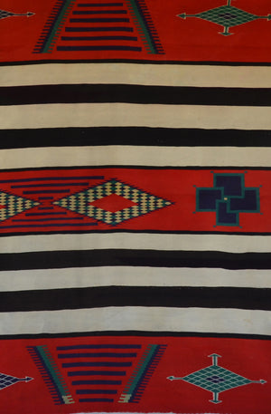 3rd Phase Navajo Chief Blanket : Antique : PC 278 - Getzwiller's Nizhoni Ranch Gallery