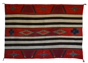 3rd Phase Navajo Chief Blanket : Historic : PC 278 - Getzwiller's Nizhoni Ranch Gallery