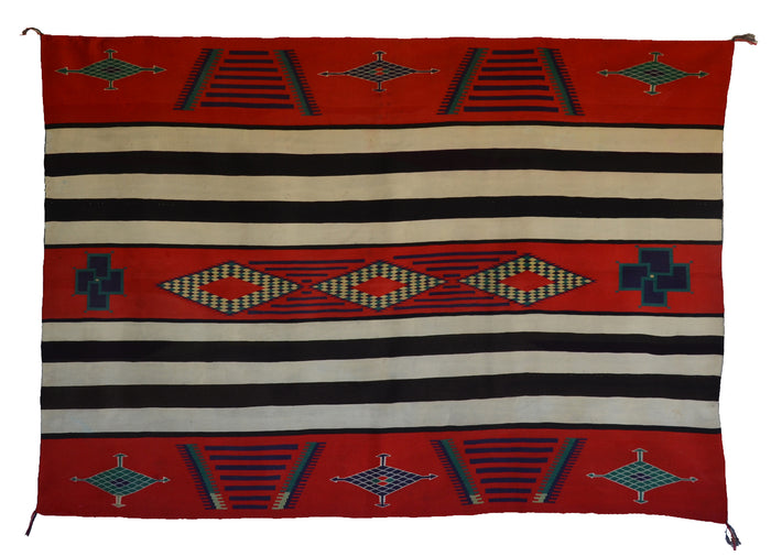 3rd Phase Navajo Chief Blanket : Antique : PC 278 : 56″ x 78″