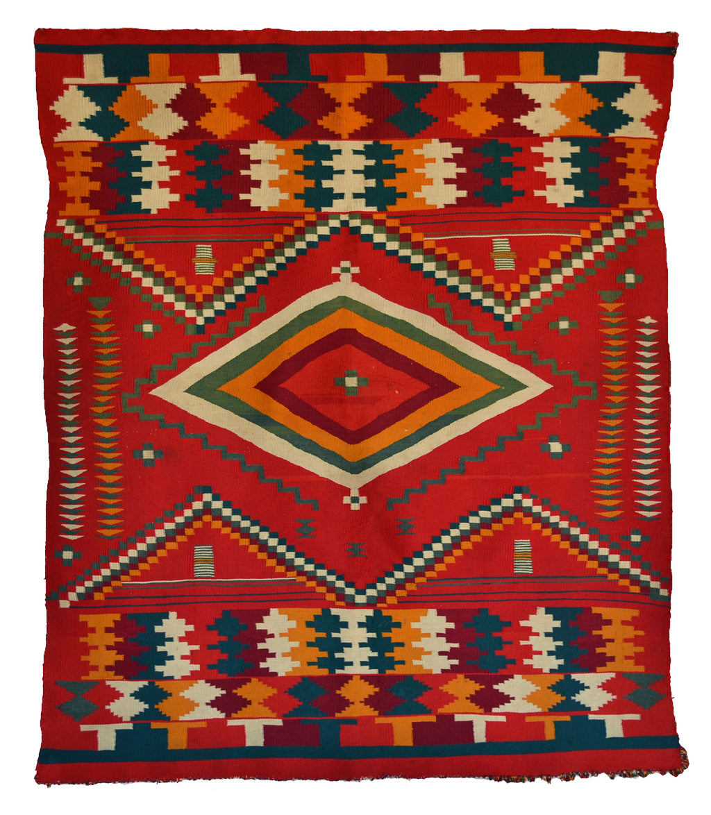 SOLD Navajo Germantown Blanket : Historic : PC 279 - Getzwiller's Nizhoni Ranch Gallery
