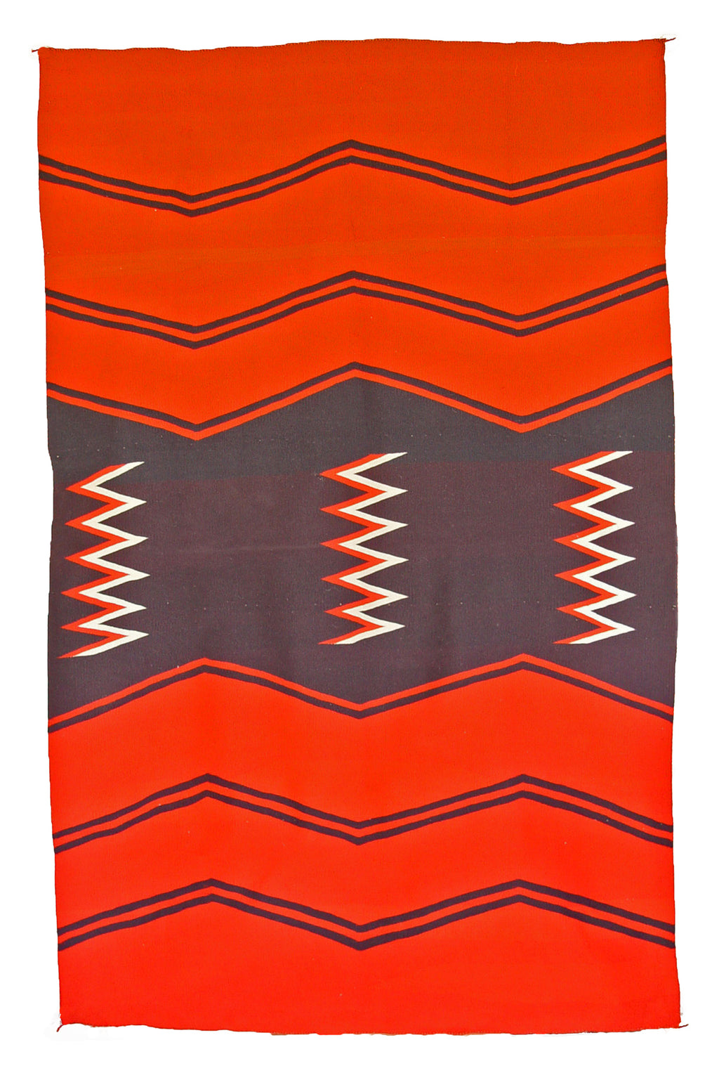 "Neo-Classic Serape : Historic Navajo Weaving : PC 37 : 52"" x 83"" - Getzwiller's Nizhoni Ranch Gallery"