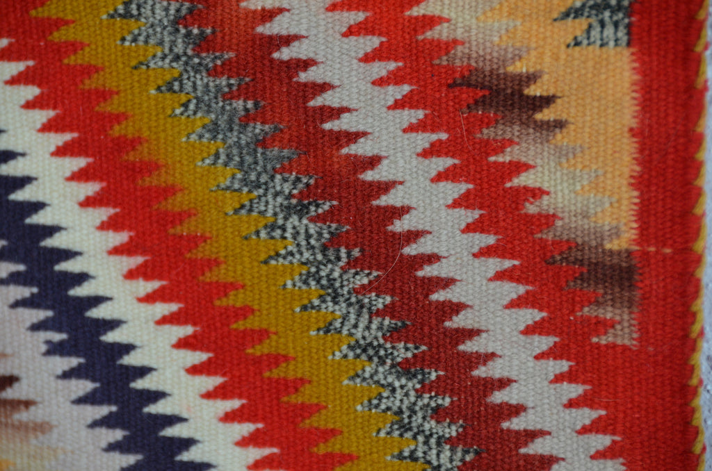 Germantown Sunday Saddle Throw : Historic Navajo Weaving : PC 69