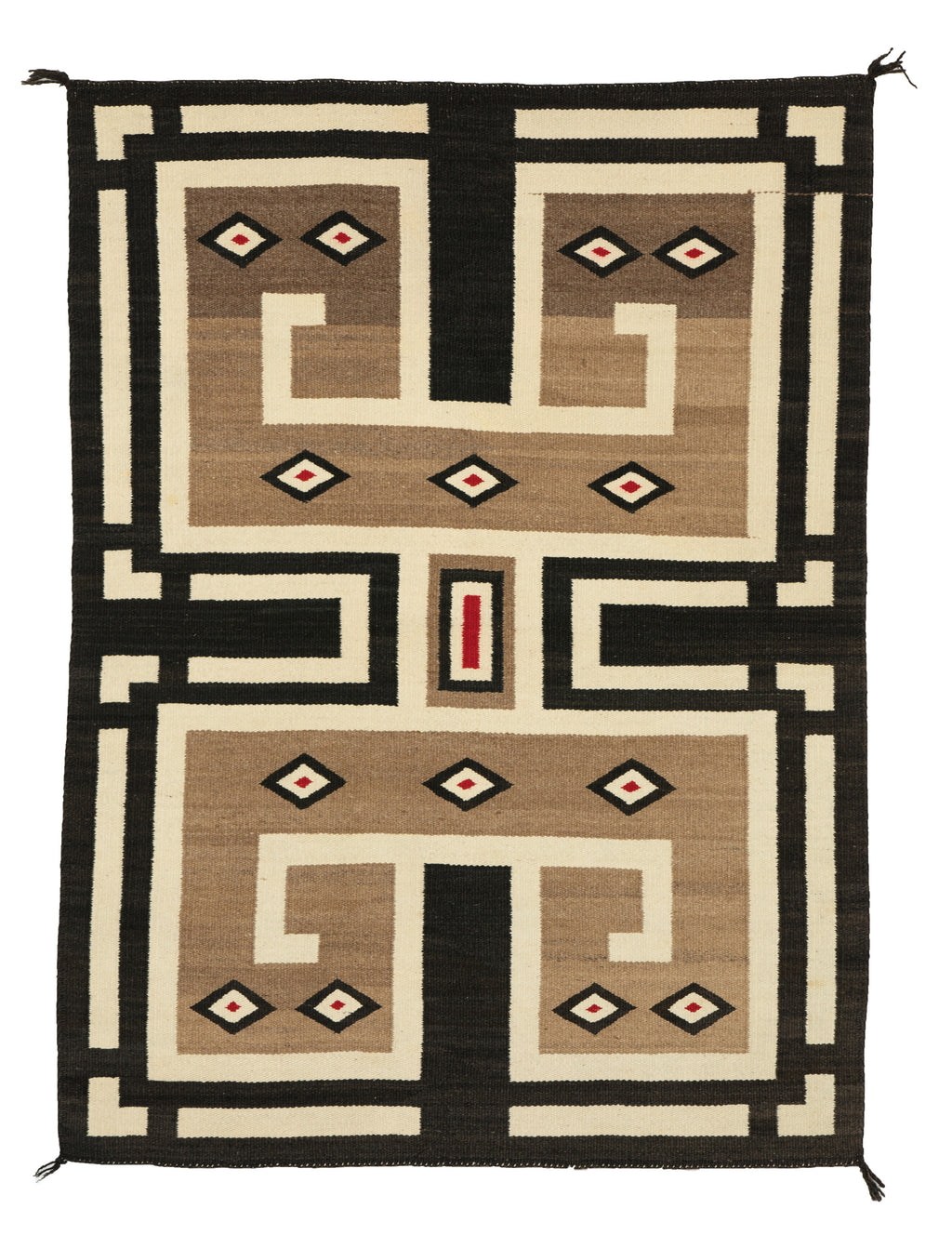 "Navajo Double Saddle Blanket : Historic : PC 83 : 33"" x 48"" - Getzwiller's Nizhoni Ranch Gallery"