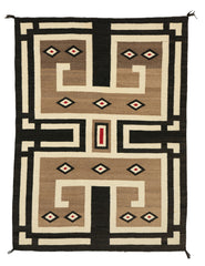 Navajo Double Saddle Blanket : Historic : PC 83