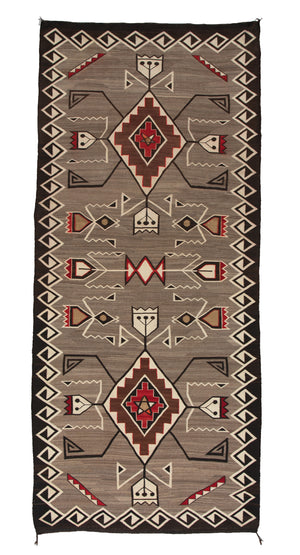 "Teec Nos Pos Navajo Weaving : Historic : PC 88: 3'7""x 8'4"" - Getzwiller's Nizhoni Ranch Gallery"