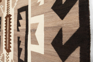 "Two Grey Hills Navajo Rug Weaving : Historic : PC 99 : 72"" x 93"" - Getzwiller's Nizhoni Ranch Gallery"