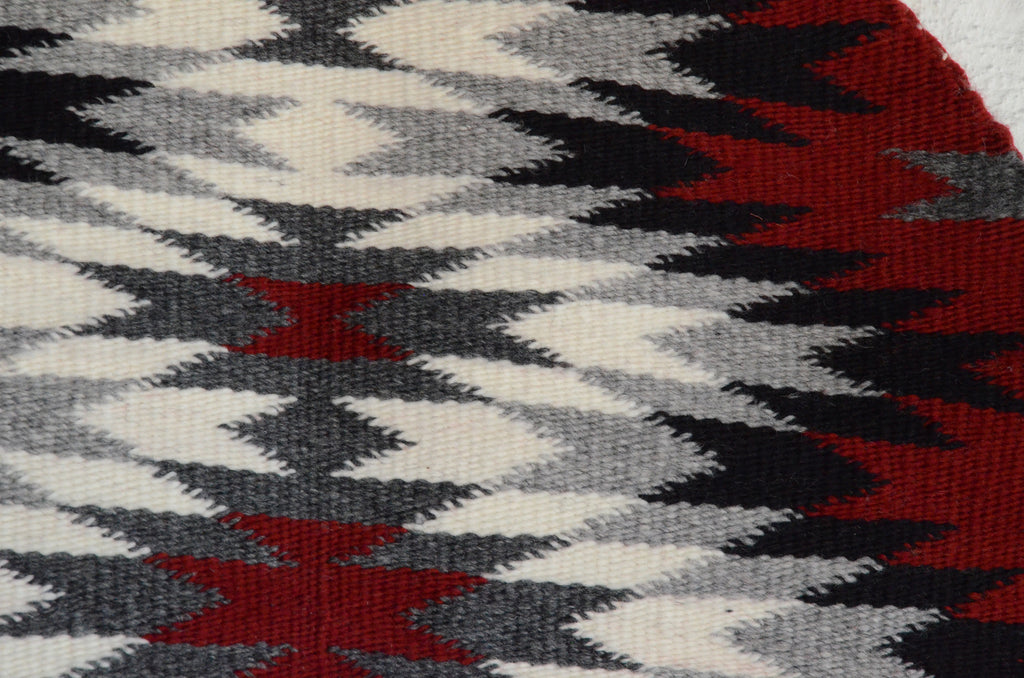 round Navajo weaving detail