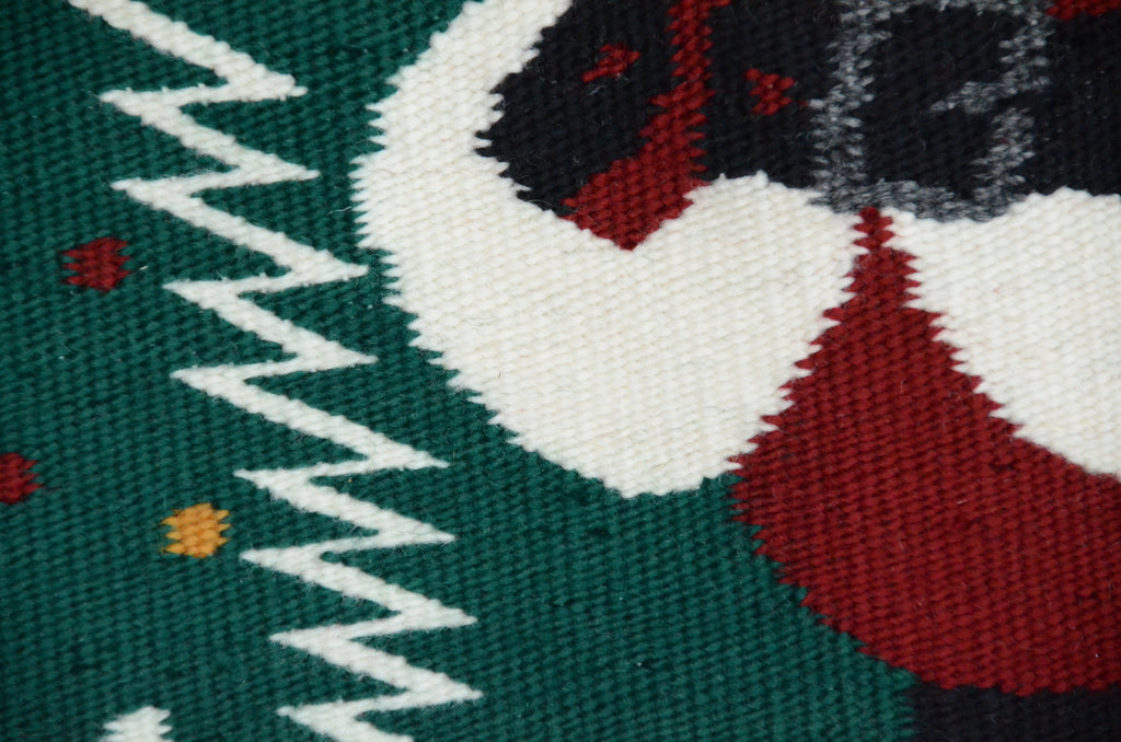 Santa Claus Pictorial Navajo Weaving : Jo Anne Begay : 3365 - Getzwiller's Nizhoni Ranch Gallery