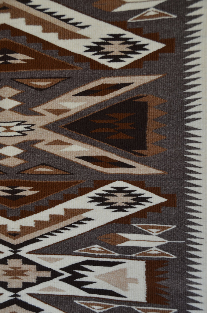 Navajo Storm Pattern woven in brown wools
