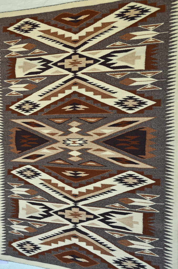 HOLD Storm Pattern variant Navajo Weaving : Gabrielle Chester : 3367 - Getzwiller's Nizhoni Ranch Gallery