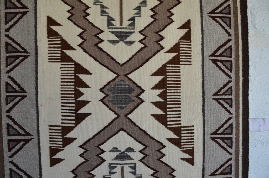 HOLD Storm Pattern Navajo Rug : Lucy Begay : Churro 1581 - Getzwiller's Nizhoni Ranch Gallery