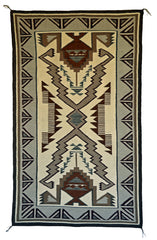 HOLD Storm Pattern Navajo Rug : Lucy Begay : Churro 1581