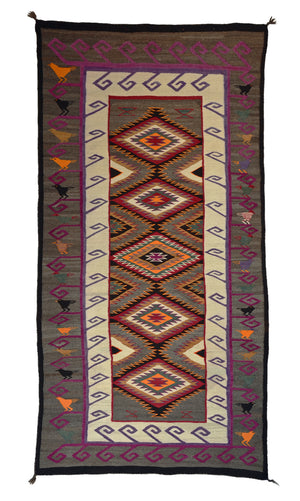 Antique Teec Nos Pos Pictorial Navajo Rug : Nizhoni Ranch Gallery : PC 9