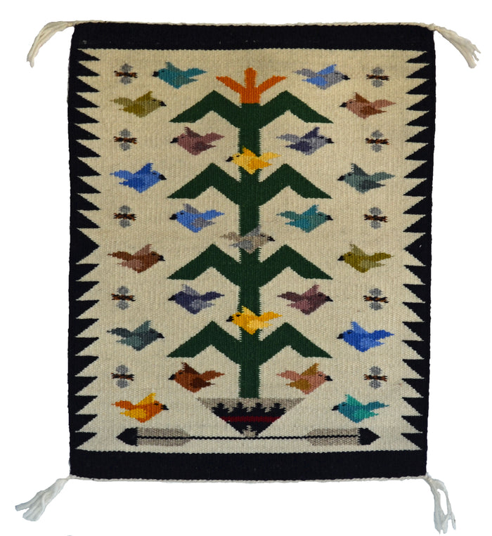 Tree Of Life Navajo Weaving : Marie Begay : 3343