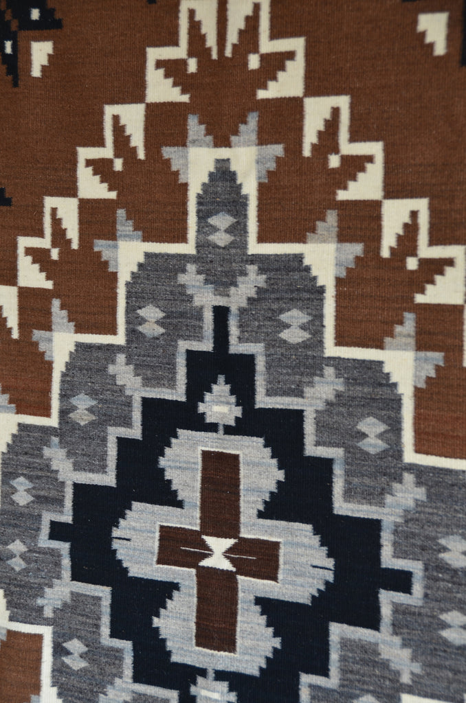Two Grey Hills Navajo Rug:  Elsie Bia : Churro 1588