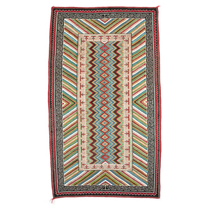 "Teec Nos Pos / Red Mesa Navajo Rug Weaving : Historic : PC 76: 4'10"" x 8'4"" - Getzwiller's Nizhoni Ranch Gallery"