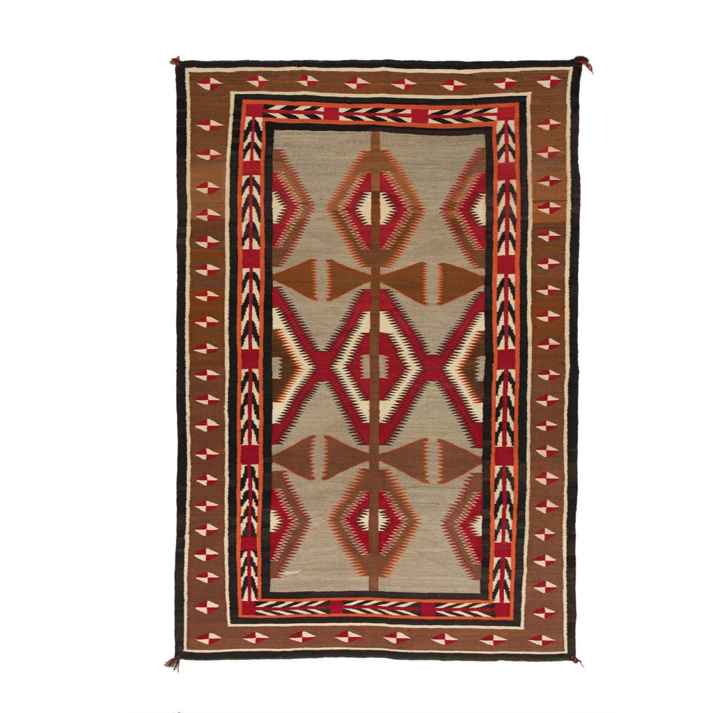 "Red Mesa / Crystal / Teec Nos Pos Navajo Rug Weaving : Historic : PC 87 : 53"" x 79"" - Getzwiller's Nizhoni Ranch Gallery"