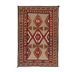 Red Mesa / Crystal / Teec Nos Pos Navajo Rug Weaving : Historic : PC 87