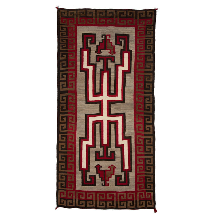 "Crystal Hero Twin Navajo Rug Weaving : Historic : GHT 536 : 54"" x 108"""