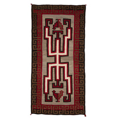 Crystal Hero Twin Navajo Rug Weaving : Historic : GHT-536