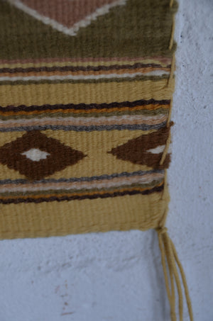 Three Turkey Ruin: Vegetal Dyed Navajo Weaving : Gloria Bia : Churro 1597