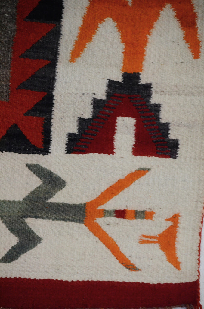 For sale Yei Gallegos Dancer : Historic Navajo Weaving : GHT 2301