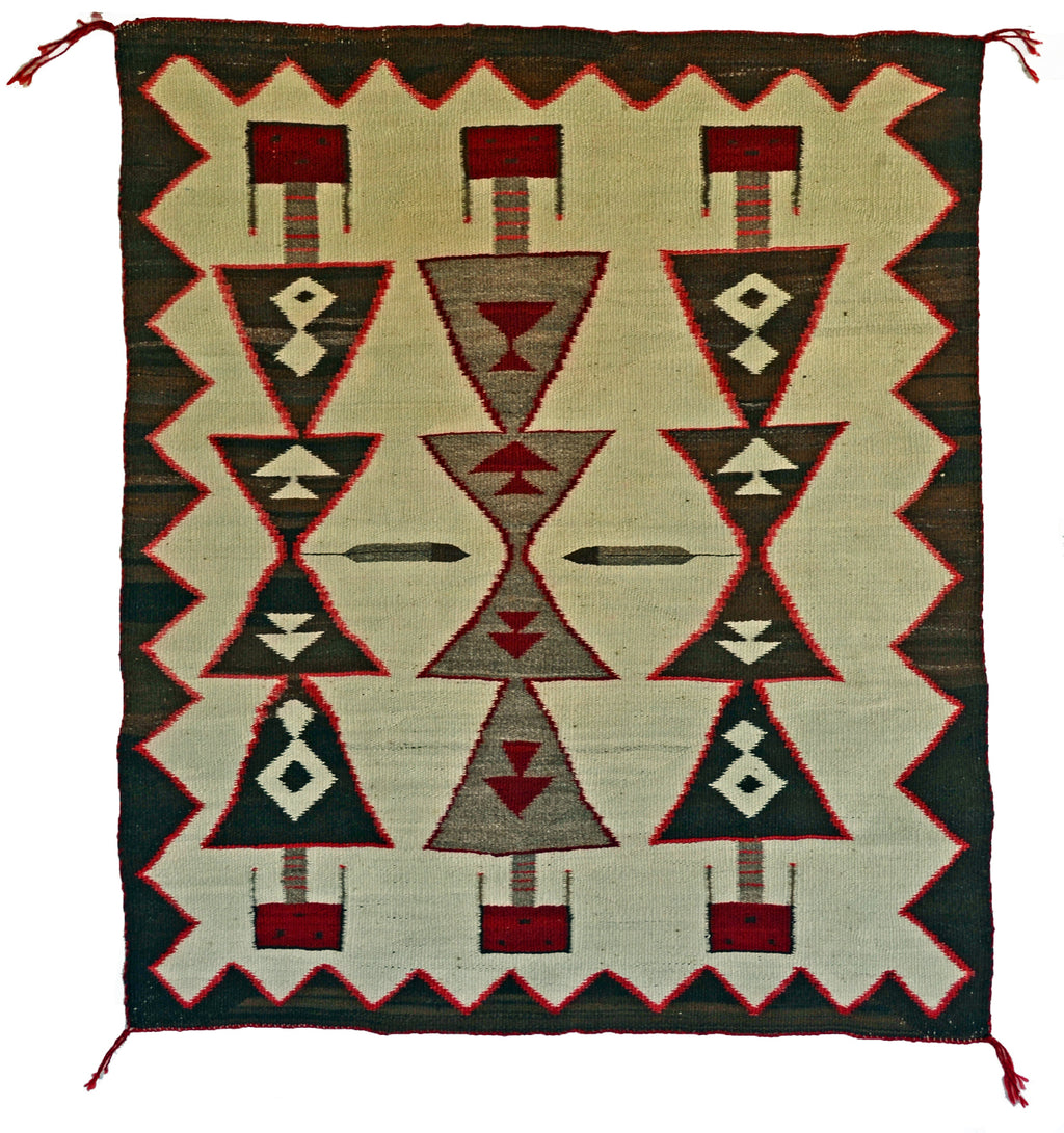 Antique Guardian Yei Navajo Weaving : Historic : GHT 2298 : 32″ x 38″ - Getzwiller's Nizhoni Ranch Gallery
