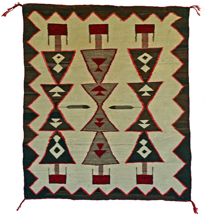 Antique Guardian Yei Navajo Weaving : Historic : GHT 2298 : 32″ x 38″