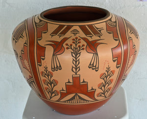 Zia Pueblo Pot : Large Olla:  Ruby Panana: rp 22 - Getzwiller's Nizhoni Ranch Gallery