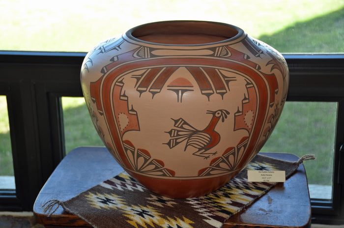 Zia Pueblo Pot : Large Olla:  Ruby Panana: rp 22