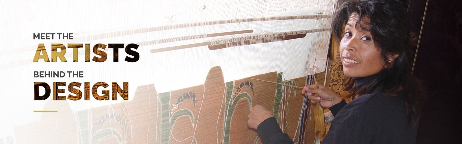 Master Navajo Weavers creating works of art for your home.