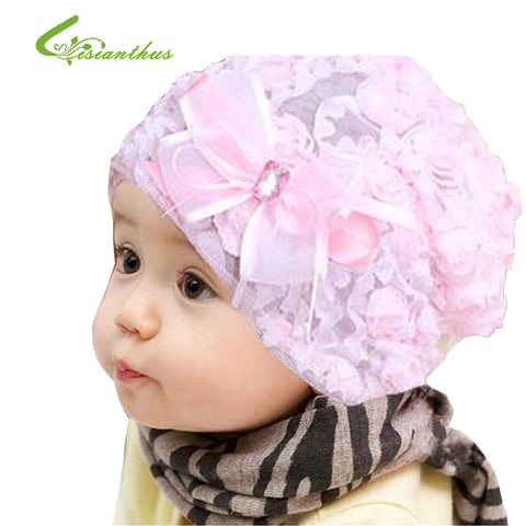 Cute 3D rose Caps Kids flower hat Baby Photo Props Baby's Girl Gift Wholesale 5pcs