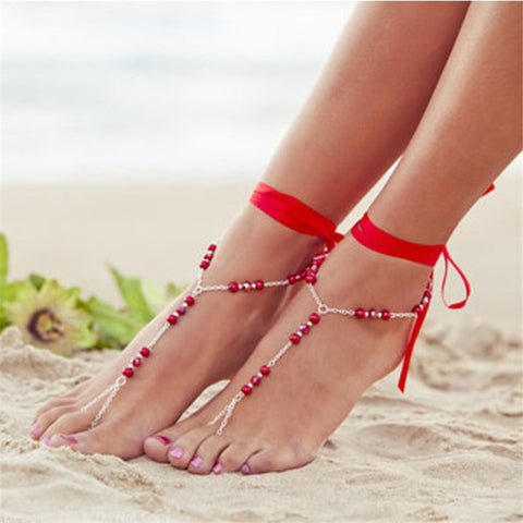 Anklet barefoot sandals chain