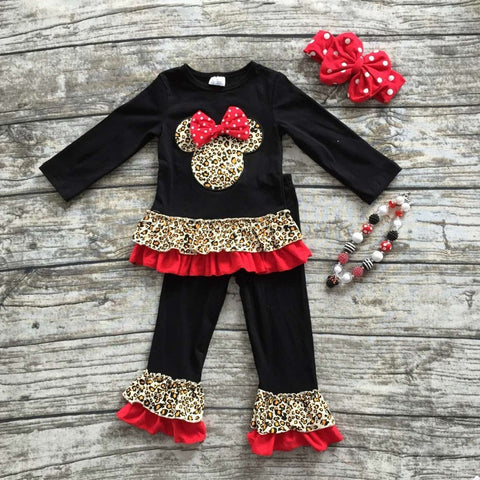 girls minnie outfits  ruffle pants clothing outfit