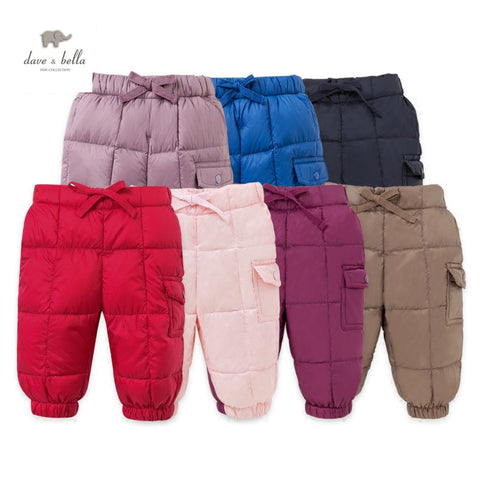 thick down trousers kids white duck down trouser infant clothes toddler pants