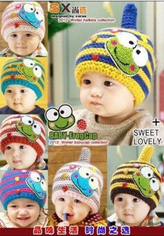 Crochet Knitted Baby Kids Photo Props Infant BABY Costume Winter Hats 1pc